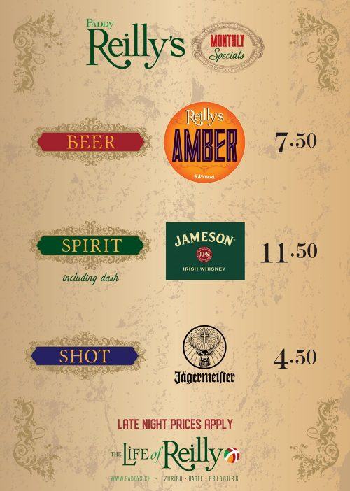 Reillys drinks poster (fribourg) OCT